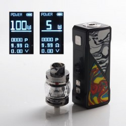 [Ships from HongKong] Authentic FreeMax Maxus 100W TC VW Box Mod + Fireluke 3 Tank Vape Kit Resin Edition - Black, 5~100W, 5ml