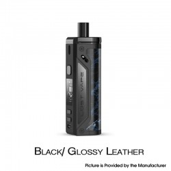 [Ships from HongKong] Authentic Lost Vape Thelema 80W Pod System VW Mod Kit - Black/Glossy Leather, 3000mAh, 5~80W, 4.0ml