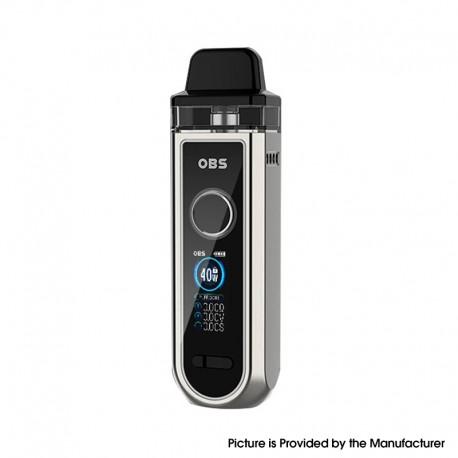 Authentic OBS Skye Pod System Vape Mod Kit Standard Version - Silver, VW 5~40W, 1600mAh, 4.0ml, 0.4ohm / 1.0ohm