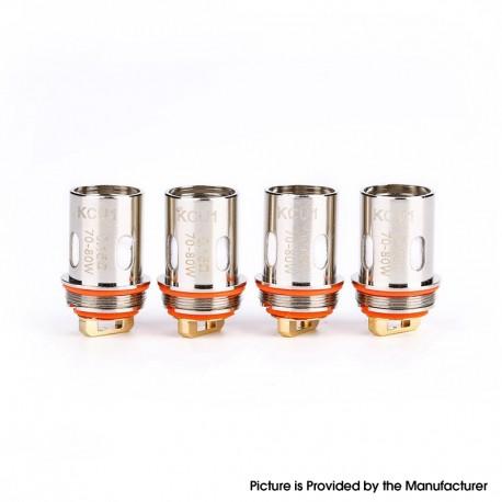 Authentic KIZOKU Unlimit DL RTA Replacement KCU1 Single Mesh Coil Head - 0.15ohm (70~80W) (4 PCS)