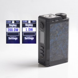 Authentic Dovpo Top Gear DNA250C 200W TC VW Vape Box Mod - Carbon / Blue, 1~200W, 2 x 18650, Evolv DNA 250C Chipset