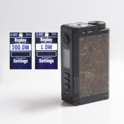 Authentic Dovpo Top Gear DNA250C 200W TC VW Vape Box Mod - Carbon / Rusty, 1~200W, 2 x 18650, Evolv DNA 250C Chipset