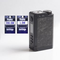 Authentic Dovpo Top Gear DNA250C 200W TC VW Vape Box Mod - Carbon / Black, 1~200W, 2 x 18650, Evolv DNA 250C Chipset