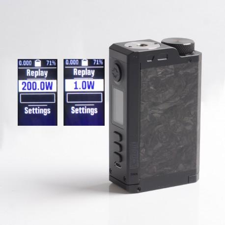 Authentic Dovpo Top Gear DNA250C 200W TC VW Vape Box Mod - Carbon / Black, 1~200W, 2 x 18650, Evolv DNA 250C Chipset