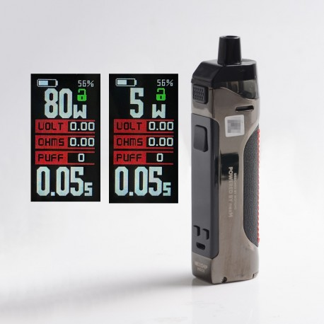 Authentic Wotofo Manik 80W Pod System Vape Mod Kit - Prism Gunmetal, VW 5~80W, 1 x 18650, 4.5ml, 0.2ohm
