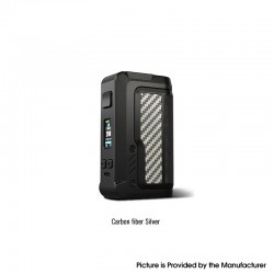 Authentic Vandy Vape Gaur-21 200W Dual 21700 Vape Box Mod - Carbon Fiber Silver, VW 5~200W, 2 x 18650 / 21700