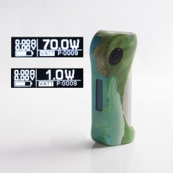 Authentic ULTRONER Alieno 70W TC VW Variable Wattage Vape Box Mod - Green, Stabilized Wood, 1~70W, 1 x 18650, SEVO 70 Chipset