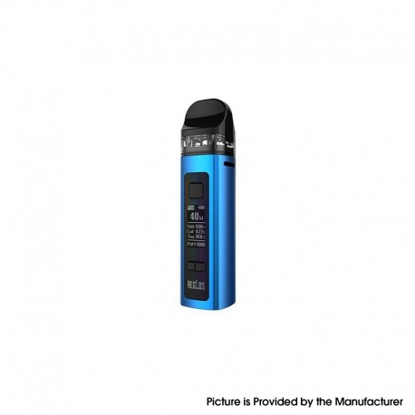 Authentic Uwell Aeglos Pod System Vape Mod Kit - Blue, VW 5~60W, 1500mAh, 3.5ml, MTL 0.8ohm Coil / DL 0.23ohm Coil