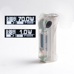 Authentic ULTRONER Alieno 70W TC VW Variable Wattage Vape Box Mod - Translucent, ABS, 1~70W, 1 x 18650, SEVO 70 Chipset
