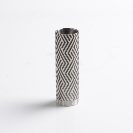 SXK CinqueTerre Style 70W Mod Replacement 18650 Battery Tube - Silver + Black, SS, Oblique line Pattern