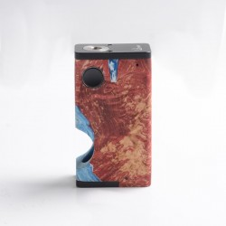 Authentic Ultroner Luna 80W Squonk Vape Box Mod - Red, Aluminum + Stabilized Wood, 1 x 18650, 6.0ml