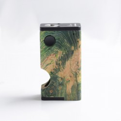 Authentic Ultroner Luna 80W Squonk Vape Box Mod - Green, Aluminum + Stabilized Wood, 1 x 18650, 6.0ml