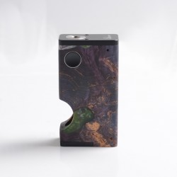 Authentic Ultroner Luna 80W Squonk Vape Box Mod - Purple, Aluminum + Stabilized Wood, 1 x 18650, 6.0ml
