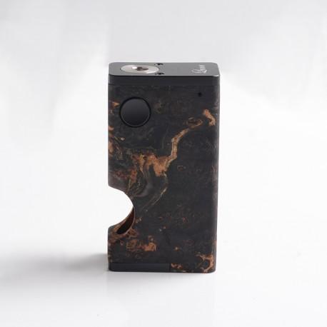 Authentic Ultroner Luna 80W Squonk Vape Box Mod - Black, Aluminum + Stabilized Wood, 1 x 18650, 6.0ml