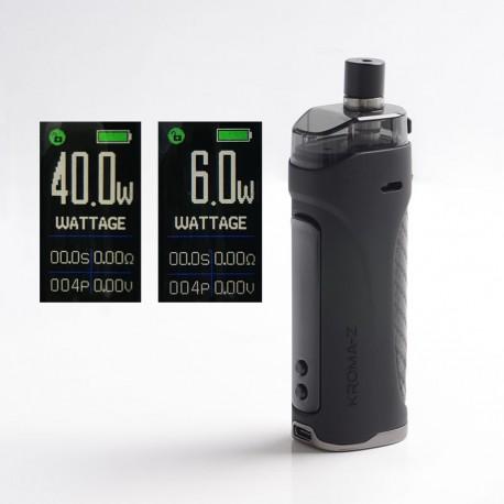 Authentic Innokin Kroma Z Pod System Vape Mod Kit - Black, 6~40W, 3000mAh 4.5ml, 0.8ohm / 0.3ohm