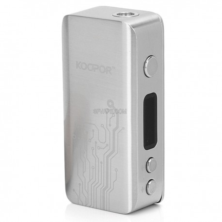 Authentic SMOKTech Koopor Mini 60W Temperature Control VW Variable Wattage Box Mod - Silver, Stainless Steel, 1~60W, 1 x 18650