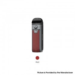 Authentic SMOKTech Nord 4 80W Pod System Vape Kit - Leather Red, 2000mAh, VW 5~80W, 4.5ml, RPM 2 0.16ohm / RPM 0.4ohm