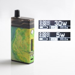 [Ships from Battery Warehouse] Authentic Ultroner Theia 30W VW Pod System Kit - Green, 5~30W, 2.0ml, 0.6 / 1.2ohm