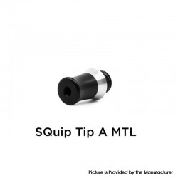 YFTK SQuip Tip Arise MTL Style 510 Drip Tip for MTL Vape Atomizer - Black, Stainless Steel + POM
