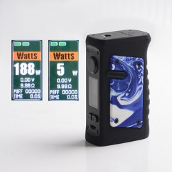 Authentic Vandy Vape Jackaroo Dual 188W TC VW Vape Box Mod - Resin Blue Porcelain, 5~188W, 2 x 18650, IP67 Waterproof