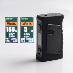Authentic Vandy Vape Jackaroo Dual 188W TC VW Vape Box Mod - Stripy Black, 5~188W, 2 x 18650, IP67 Waterproof