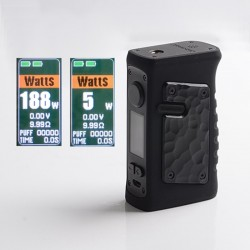 Authentic Vandy Vape Jackaroo Dual 188W TC VW Vape Box Mod - G10 Obsidian Black, 5~188W, 2 x 18650, IP67 Waterproof