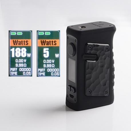 Authentic Vandy Vape Jackaroo Dual 188W TC VW Vape Box Mod - G10 Obsidian Black, 5~188W, 2 x 18650, IP67 Waterproof
