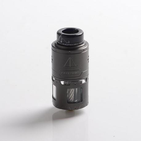 Authentic ThunderHead Creations THC Artemis RDTA Vape Atomizer w/ BF Pin - Gun Metal, SS + Glass, 4.5ml, 24mm Diameter