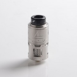 Authentic ThunderHead Creations THC Artemis RDTA Vape Atomizer w/ BF Pin - Silver, SS + Glass, 4.5ml, 24mm Diameter