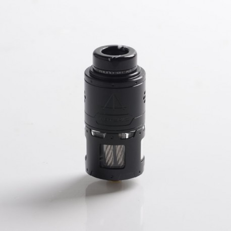 Authentic ThunderHead Creations THC Artemis RDTA Vape Atomizer w/ BF Pin - Black, SS + Glass, 4.5ml, 24mm Diameter