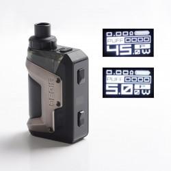 Authentic GeekVape Aegis Hero 45W VW Pod System Vape Starter Kit - Gun Metal, 1200mAh, 5~45W, 4.0ml, 0.4ohm / 0.6ohm