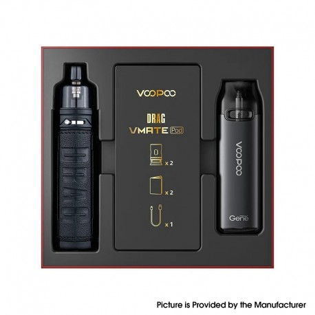 Authentic VOOPOO Drag X & Vmate Pod System Limited Edition - Classic, 900mAh / 1 x 18650, 5~80W