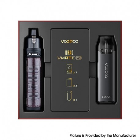 Authentic VOOPOO Drag S & Vmate Pod System Limited Edition - Chestnut, 900mAh / 2500mAh, 5~60W