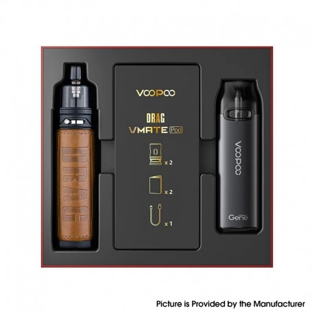 Authentic VOOPOO Drag S & Vmate Pod System Limited Edition - Retro, 900mAh / 2500mAh, 5~60W
