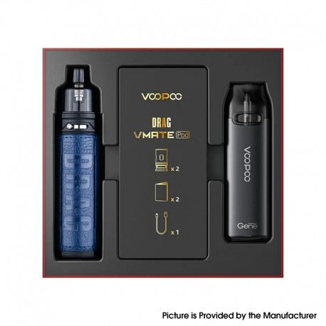 Authentic VOOPOO Drag S & Vmate Pod System Limited Edition - Galaxy Blue, 900mAh / 2500mAh, 5~60W