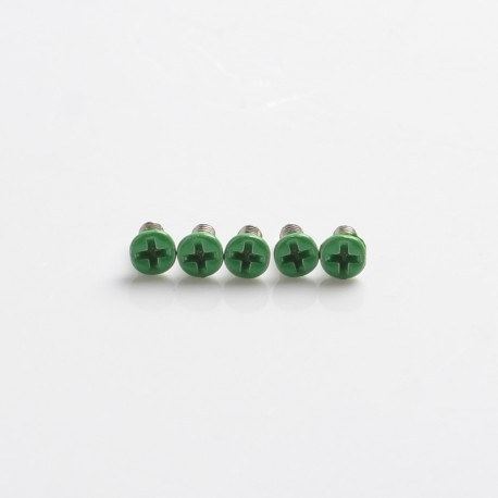 Replacement Screws for dotMod dotAIO Pod - Green, Stainless Steel (5 PCS)