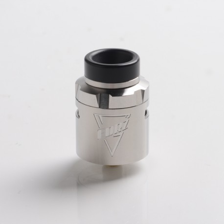 Authentic Vaporesso FORZ RDA Rebuildable Dripping Vape Atomizer w/ BF Pin - Silver