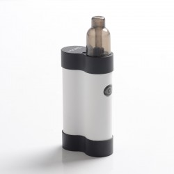 Authentic Gas Mods Mars 15W 750mAh Pod System Starter Kit - White, Metal + Plastic, 2ml, 1.5ohm / 1.8ohm