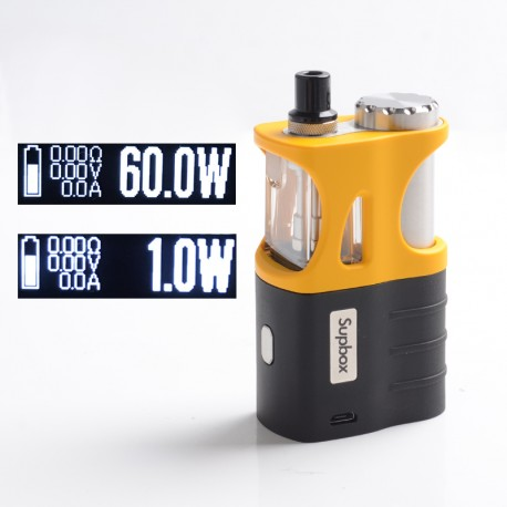Authentic SXK Supbox Pro 60W TC VW Vape Box Mod Kit - Yellow, VW 1~60W, 1 x 18650 / 18350, Evolv DNA 60 Chipset
