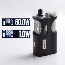Authentic SXK Supbox Pro 60W TC VW Vape Box Mod Kit - Black, VW 1~60W, 1 x 18650 / 18350, Evolv DNA 60 Chipset