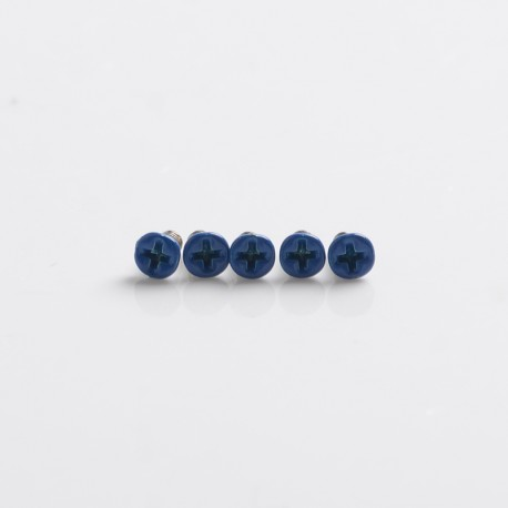 Replacement Screws for dotMod dotAIO Pod - Blue, Stainless Steel (5 PCS)