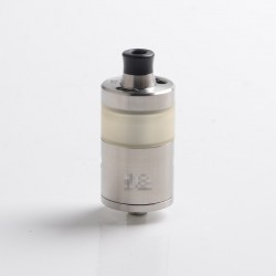 YFTK Squ Arise Style RTA Rebuildable Tank Vape Atomizer - Silver, 316SS + PSU, 4.0ml, DL / MTL, 24mm Diameter