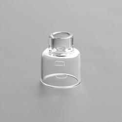 Authentic Damn Vape Mongrel RDA Replacement Glass Top Cap - Transparent, 26mm Diameter