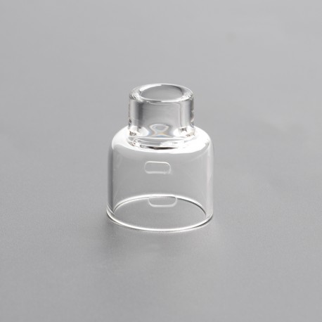 Authentic Damn Vape Mongrel RDA Replacement Glass Top Cap - Transparent, 26mm Diameter