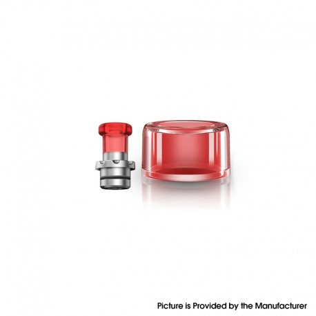 Authentic VXV Soulmate RTA Pod Replacement Tank Tube + 510 Drip Tip - Red + SS