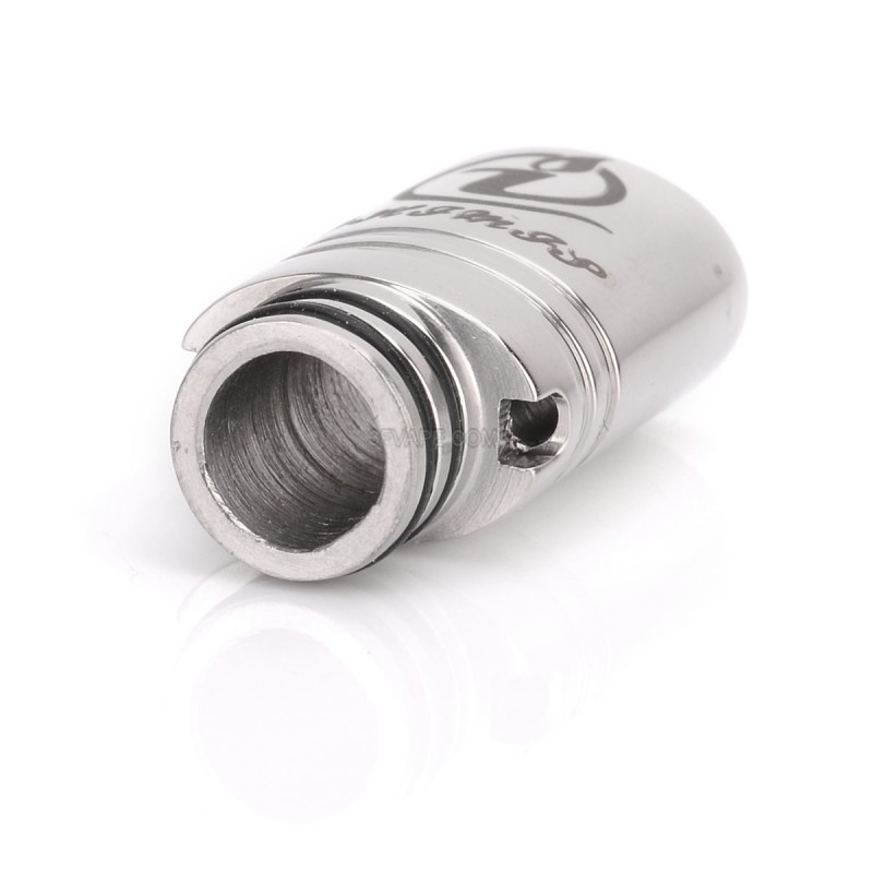 Tip Silvers: Phimis Oval Silver Stainless Steel 510 Drip Tip