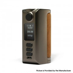 Authentic Dovpo Riva DNA250C 200W Box Mod - Gunmetal-Raw Sand, VW 1~200W, 2 x 18650, Evolv DNA250C chipset