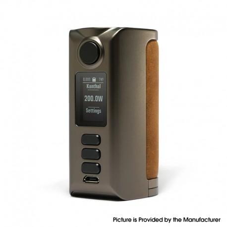 Authentic Dovpo Riva DNA250C 200W Box Mod - Gunmetal-Raw Sand, VW 1~200W, 2 x 18650, Evolv DNA250C chipset