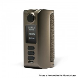 Authentic Dovpo Riva DNA250C 200W Box Mod - Gunmetal-Pure Gunmetal, VW 1~200W, 2 x 18650, Evolv DNA250C chipset