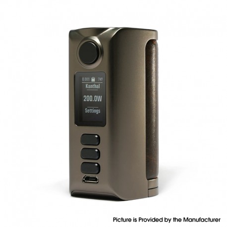 Authentic Dovpo Riva DNA250C 200W Box Mod - Gunmetal-Vintage Brown, VW 1~200W, 2 x 18650, Evolv DNA250C chipset